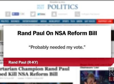 News video: Libertarian Champion Rand Paul Helped Kill NSA Reform Bill