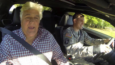 News video: Jay Leno takes US hero out for a spin in muscle car